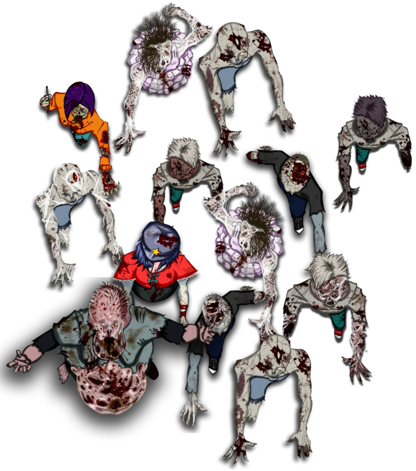 Free Token Roll20 Horde De Zombies 2 By Raldir666 On Deviantart Zombie Horror Art Token