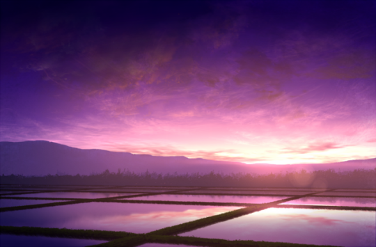 Of Fire And Waves Sunset Wallpaper Anime Scenery Anime Background