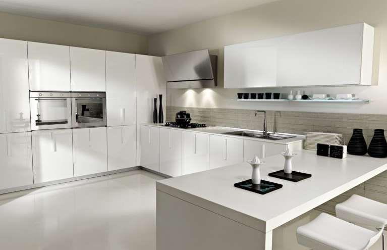 Cucine di lusso moderne - Cucina di lusso moderna bianca e dettagli ...