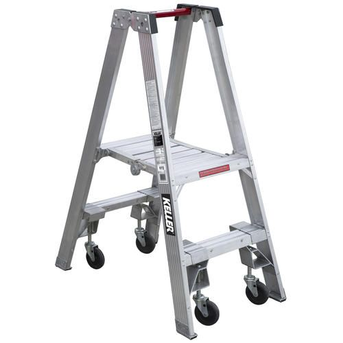 Pt902 4c 2 Type Ia Aluminum Platform Ladder W Casters With Images Platform Ladder Step Ladders Ladder