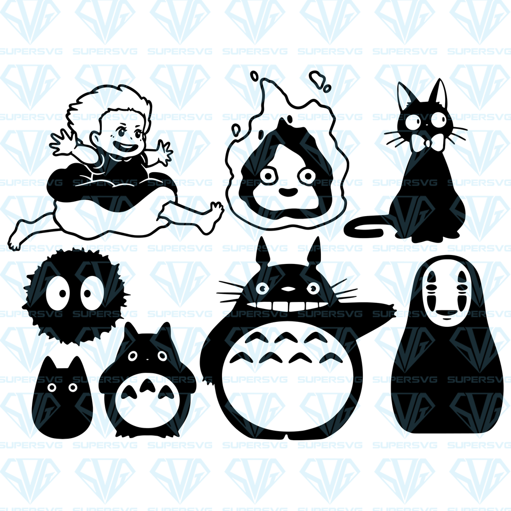 Download Studio Ghibli Bundle SVG Files For Silhouette, Files For ...