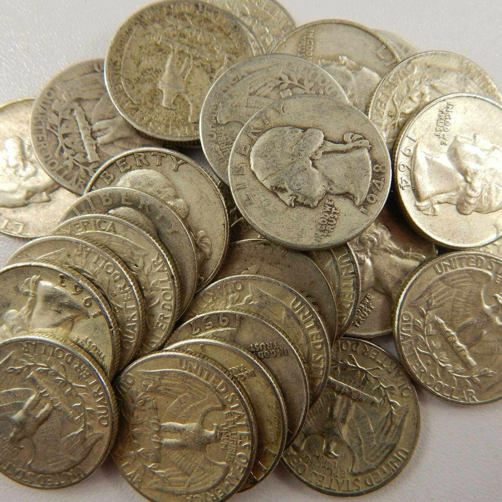 Coins $1 Face Value Dimes//Quarters//Halves 90/% Silver U.S