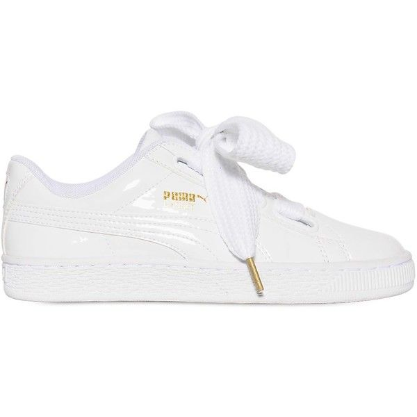 Puma Select Women Basket Bow Patent Leather Sneakers ( 110) ❤ liked on  Polyvore featuring shoes e78cd15d2c2