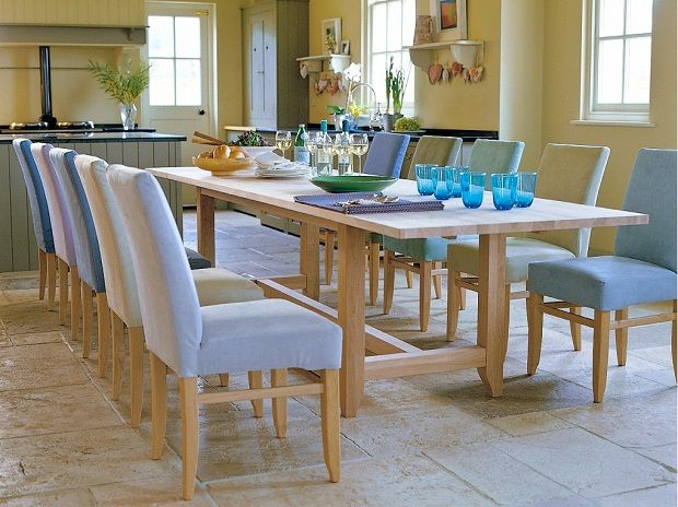 Kitchen Dining Furniture Large Table Sets Design With Wooden And 10 Light