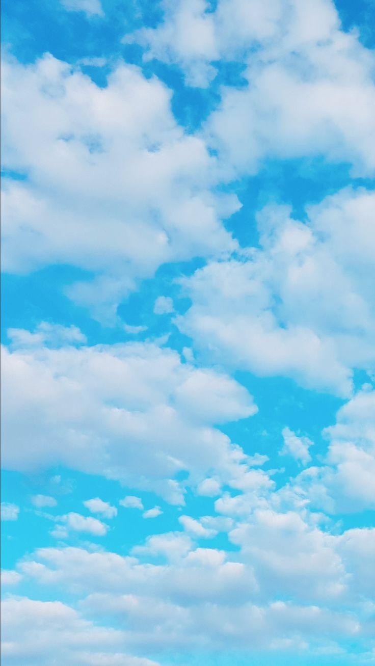 Sky Blue   Blue sky wallpaper, Clouds wallpaper iphone, Cloud ...