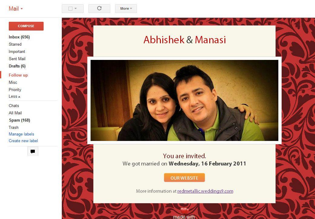 Electronic Wedding Invitation: Wedding Invitation E Cards