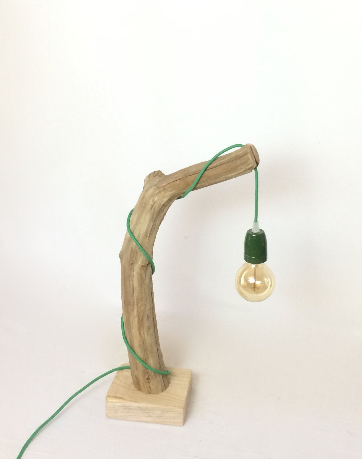 Lampe En Bois Lampe Bois Flotté Lights Ideas Pinterest Wooden Lamp