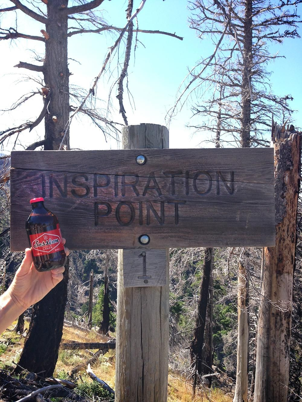 A visit to inspiration point with Session Premium Lager... The Fonz would approve #Aaaaeeeyyy