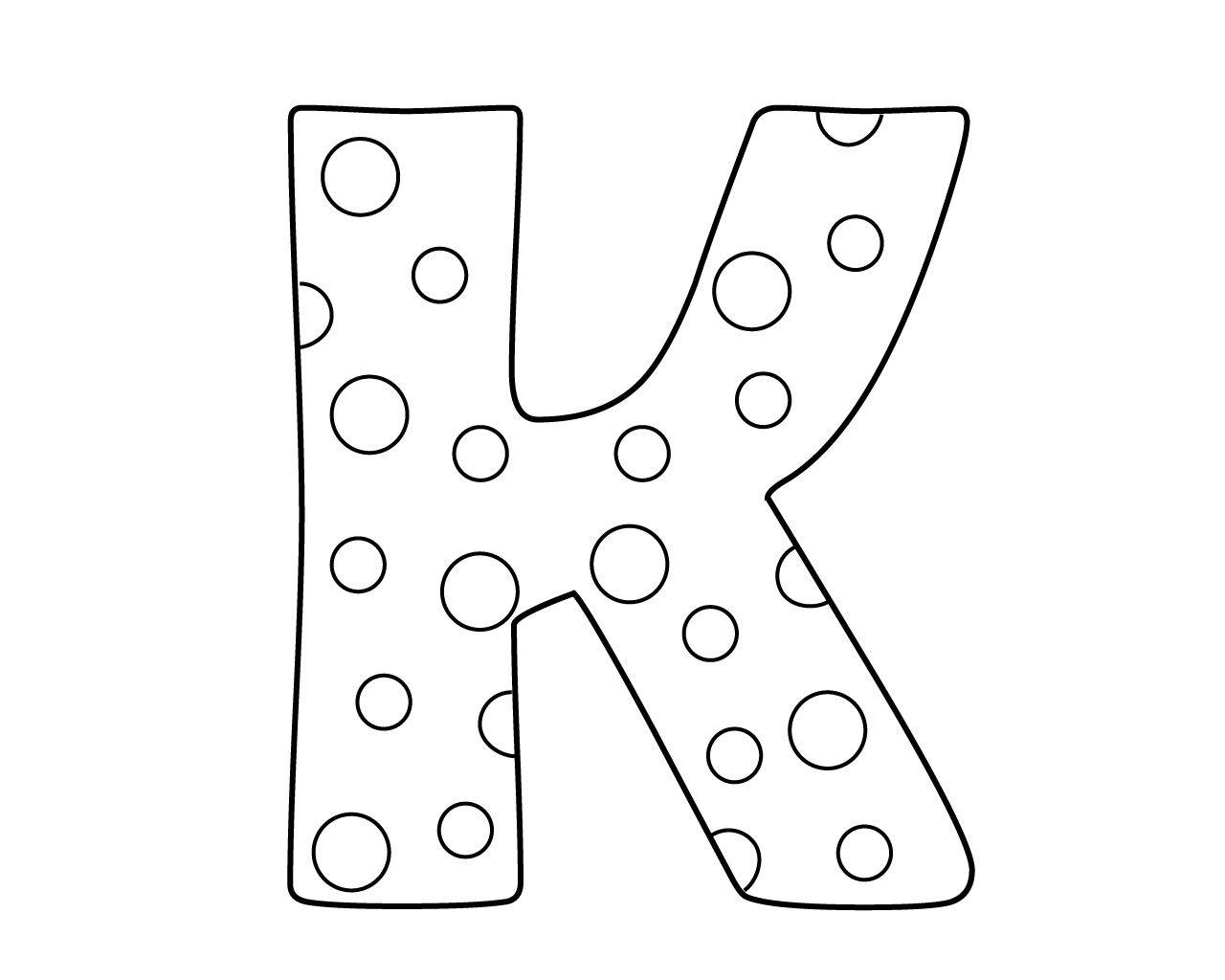 Printable Letter K Coloring Pages For Kindergarten