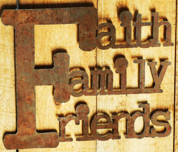 This Faith Family Friends sign is the perfect decor for inside or ...
