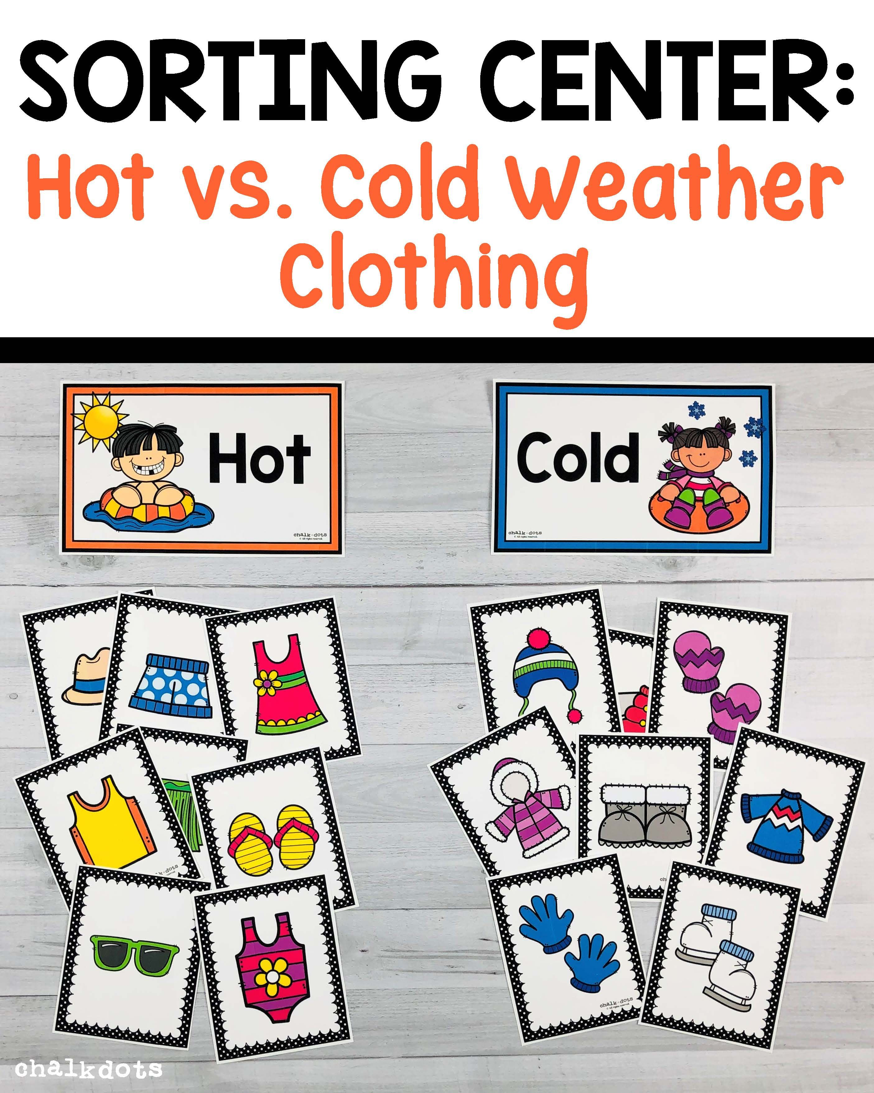 Hot And Cold Sort Weather Activities Preschool Winter Activities Preschool Weather Activities For Kids [ 3513 x 2810 Pixel ]