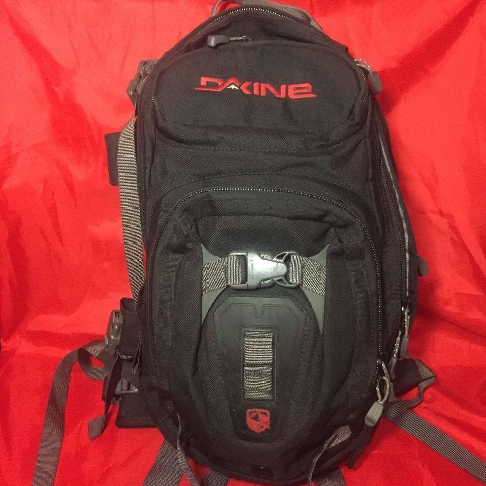 4b49a838dbcb3 DAKINE Heli Pro Black Red Snowboarding Skiing Backpack 16L  Dakine