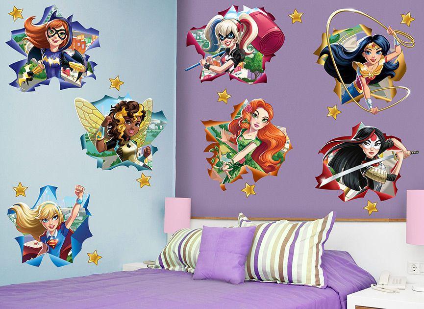 girls superhero wall mural bedrooms Yahoo Image Search Results