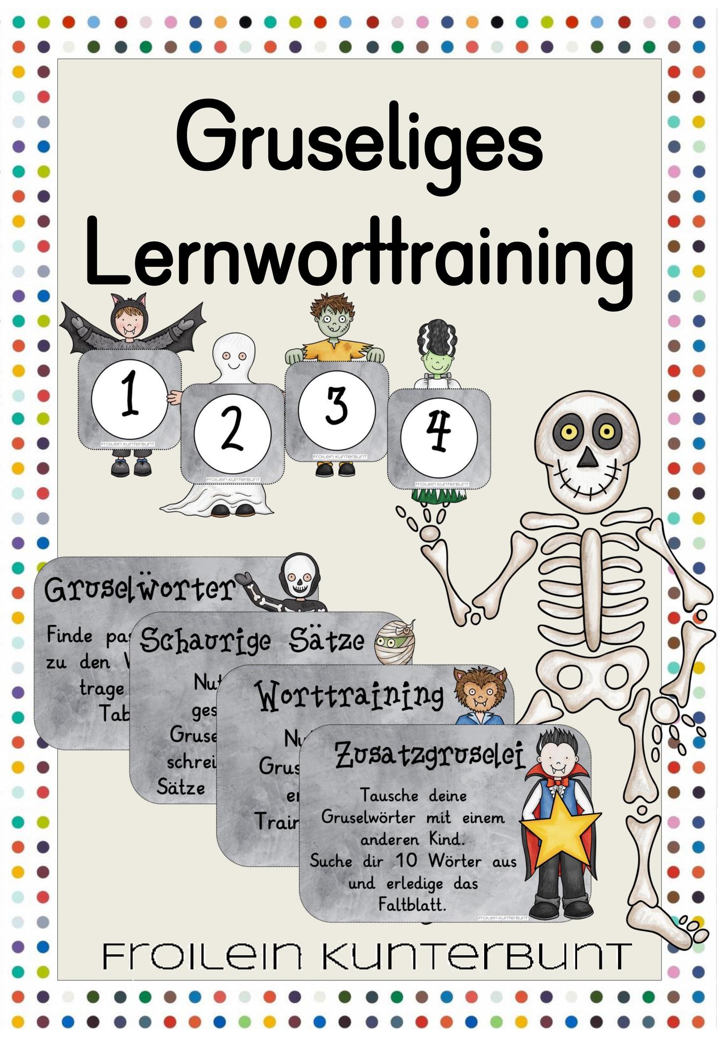 Gruseliges Lernworttraining An Vier Stationenuselworter