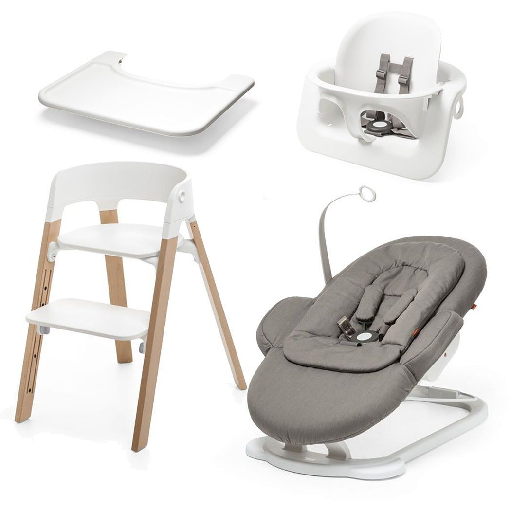 Stokke All In One Set Yes Please Http Www Amazon Com Stokke Steps All Natural Greige Dp B00lwcup Stokke Steps Midcentury Modern Dining Chairs Work Chair