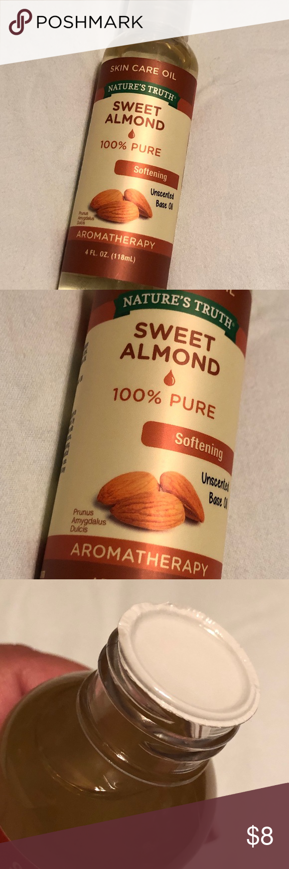 Nature S Truth Sweet Almond Oil New Sweet Almond Oil Paraben Free Products Almond Oil