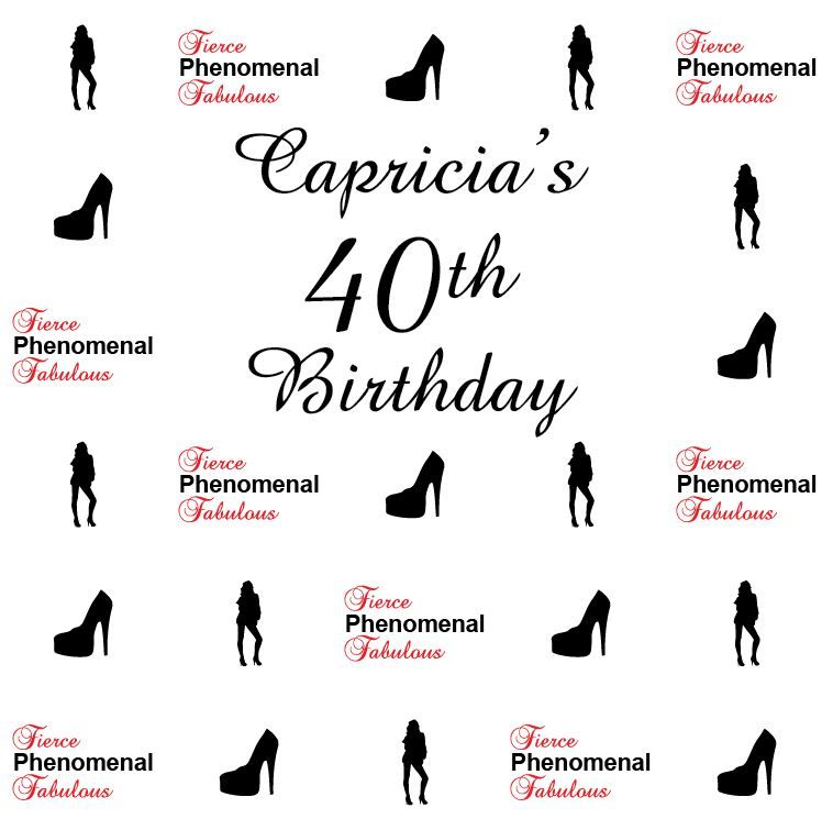 Capricia's 40th Birthday Step and Repeat 2854   sign11.com   Step ...