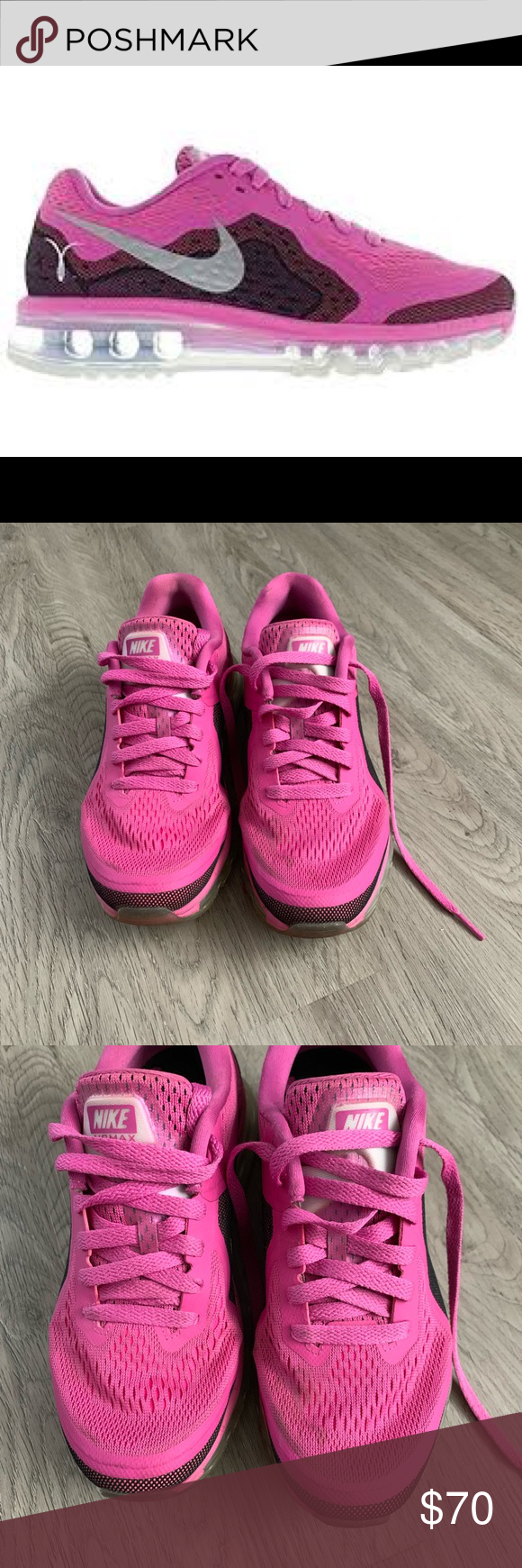 best sneakers 95444 e91e3 Nike Air Max 2014 Breast Cancer Awareness - 7.5 Women s Nike Shoes 7.5  Barely Worn - 4x Max! Very Comfortable Look brand new - little dirty on  left shoe top ...