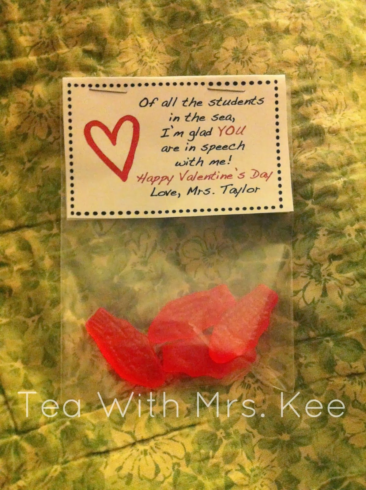 Valentines For Speech Therapy Kiddos Tea With Mrs Kee