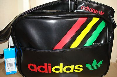 New Retro Adidas Superstar Black Rasta Vintage Airline Bag Limited Edition Last Adidas Bags Cowgirl Chic Bags