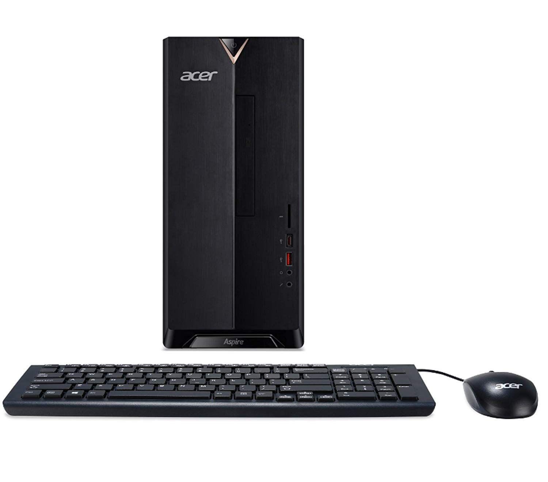 Acer Aspire Tc 885 Accfli3 Desktop 8th Gen Intel Core I3 8100 8x Dvd 802 11ac Wifi Windows 10 Home Acer Aspire Acer Desktop Acer
