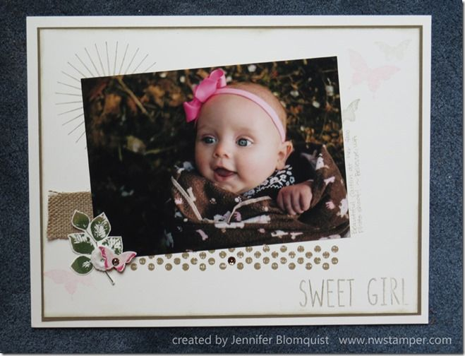 Scrapbook Sunday: Going Vintage Sweet for a Baby Girl Layout with Kinda Eclectic | Northwest Stamper