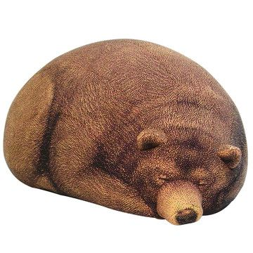 Cool Sleeping Grizzly Bear Bean Bag By Chic Sin Design