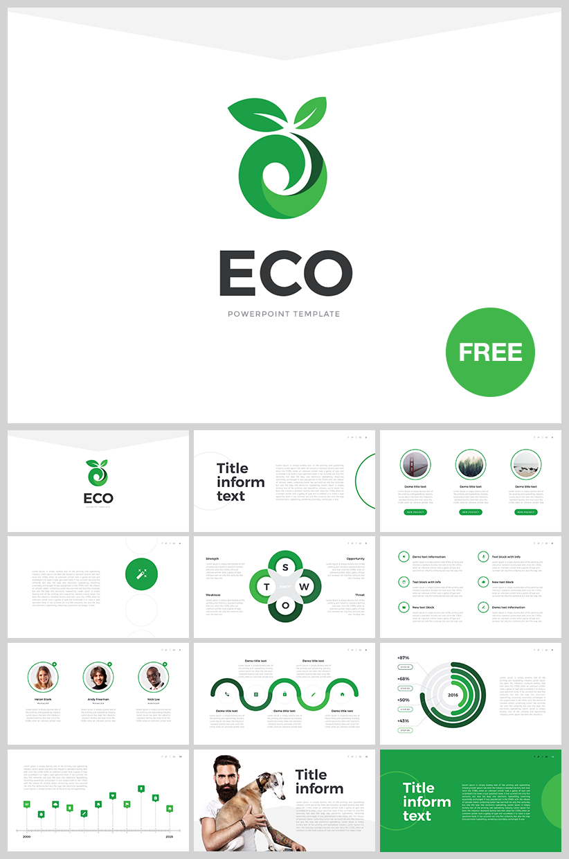 "free powerpoint template ""eco"" - download link http://site2max.pro, Modern powerpoint"