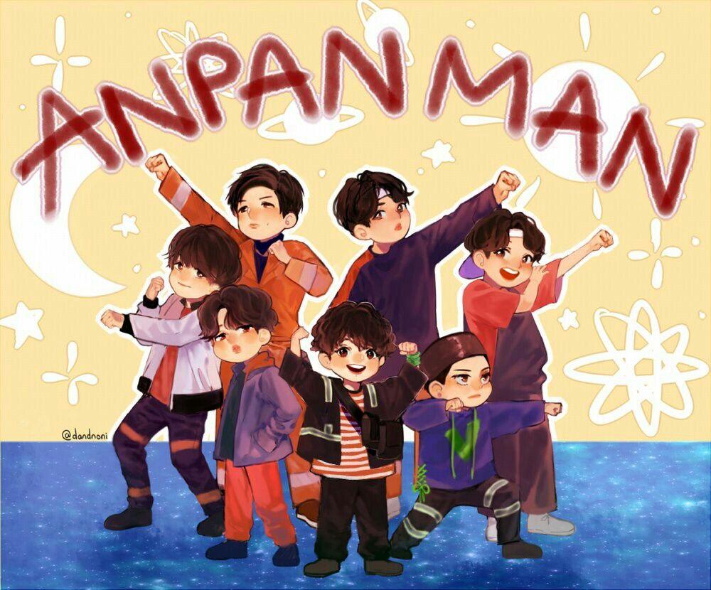 ANPANMAN 🎶 btsfanart By dandnoni_ Bts chibi, Fan art