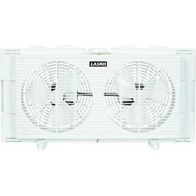 Twin Window Fan 7 Inches Portable Exhaust White Kitchen ...