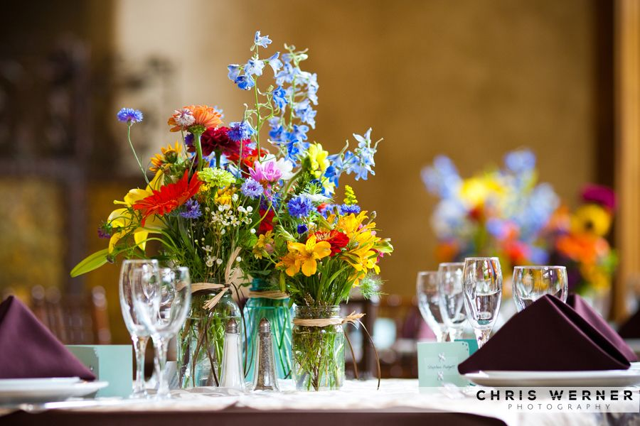Summer Wildflowers Wedding Reception Table Idea More Great Decorations And Flower Ideas At