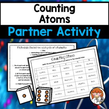 Counting Atoms Partner Activity Counting Atoms Atom Activities Atom Counting atoms worksheet answers