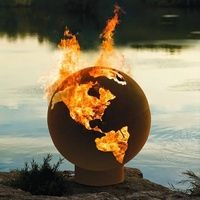 The Globe Cast Iron Outdoor Fire Pit