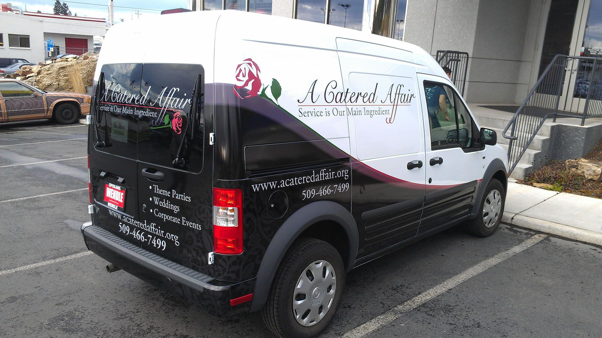 A catered affair ford transit similiar shaped van interting to see how the curves come out