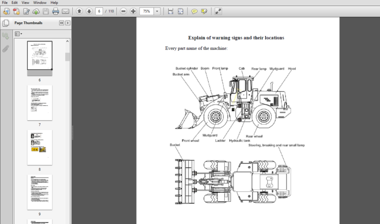 Hyundai Wheel Loader Hl660 Operator Manual Pdf Download Manual Hyundai Pdf Download
