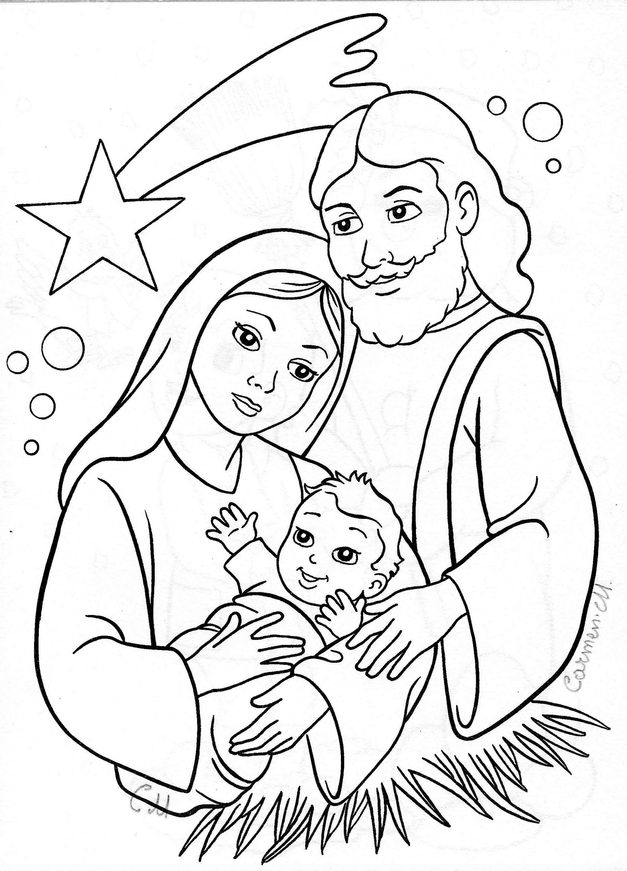 Coloring pages baby jesus printable - Find This Pin And More On Christmas Printables