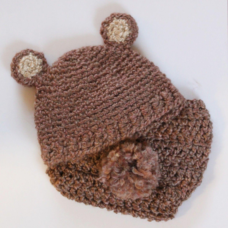 CROCHET PATTERNS (Bear/Bunny Hat/Newborn Diaper Cover Set)   Newborn ...