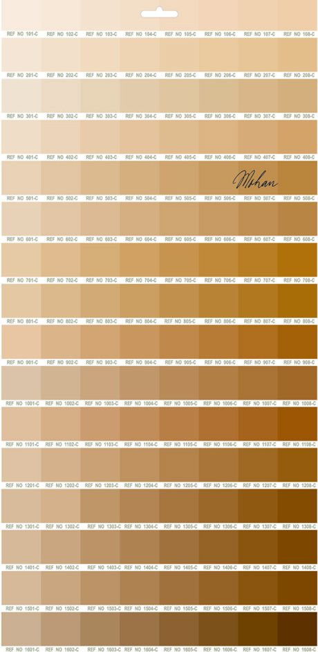 Pantone tea chart, for use in office tea rooms Mineu0027s a number - sample pantone color chart