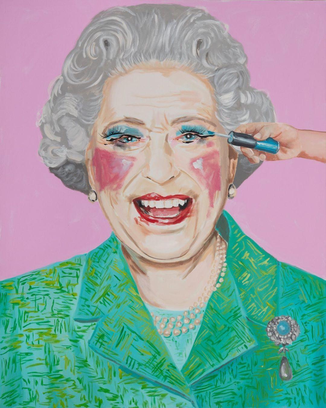 "Ashley Longshore on Instagram ""HRH Queen Elizabeth"