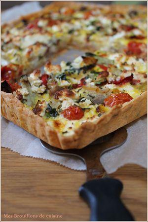 tarte aux l gumes d 39 t id es miam pizza cake salty tart et delicious vegan recipes. Black Bedroom Furniture Sets. Home Design Ideas