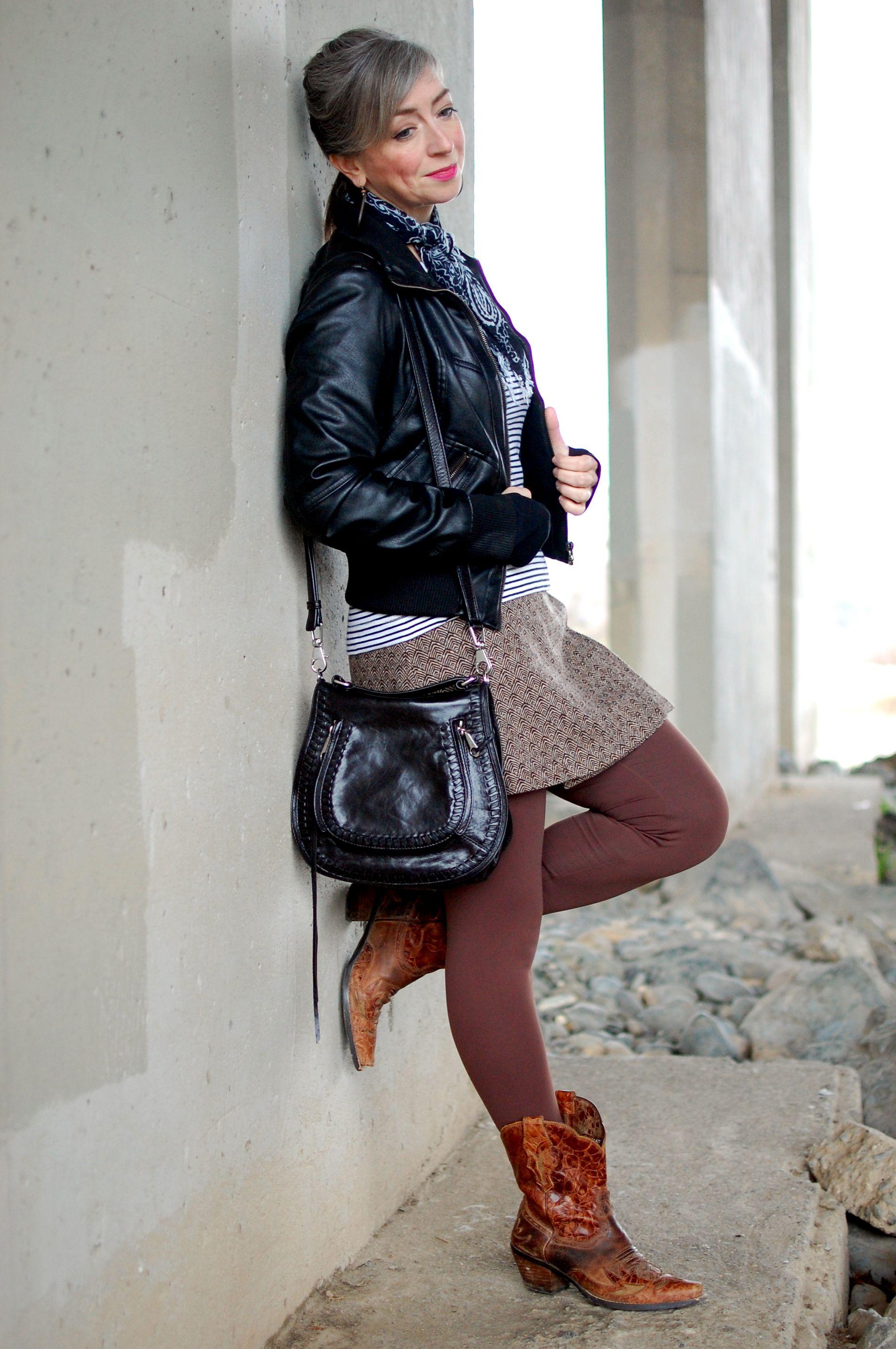 Fallen Hem Black, brown, Leather skirt, Fashion