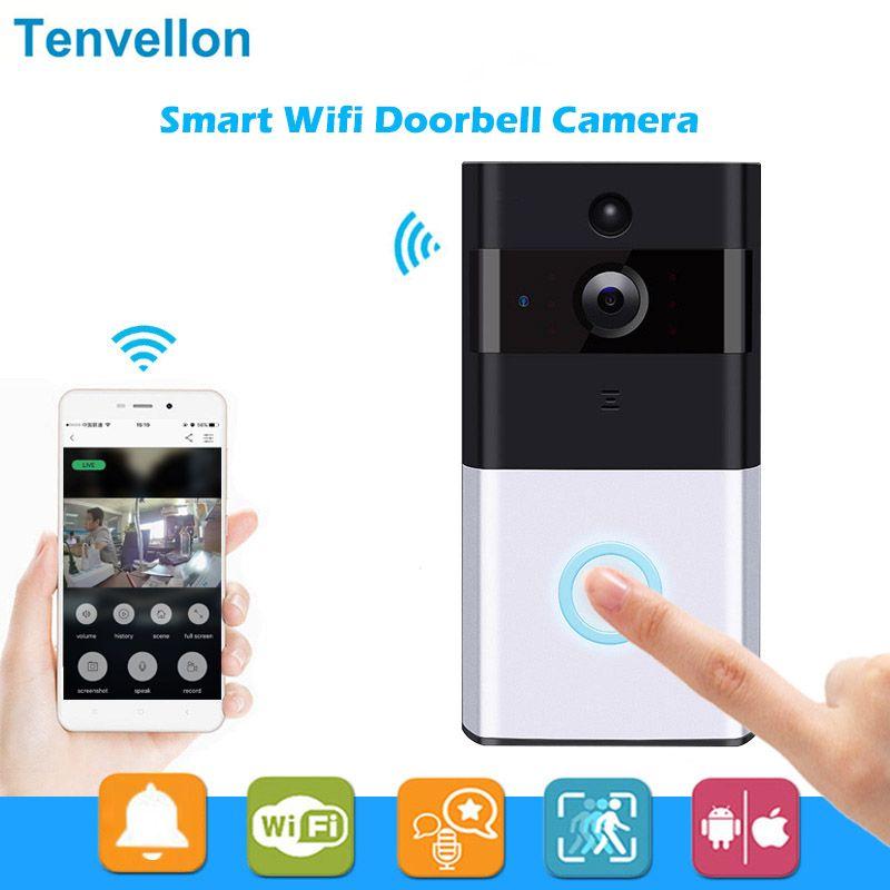IP sans fil Sonnette Avec 720 P Caméra Vidéo Téléphone WIFI Porte - alarme porte d entree