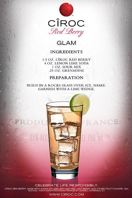 Ciroc Glam Mixed Drinks Recipes Berry Drinks Ciroc Drinks
