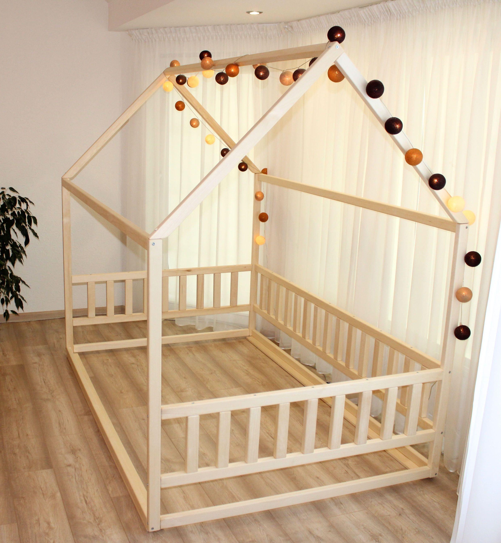 Kleinkind-Bett-Haus ohne Latten, Kinderkrippe, Kinderbetten, Kinderbetten, Kinderhaus, Montessori-Bett, Kinderzimmer, Bodenbett