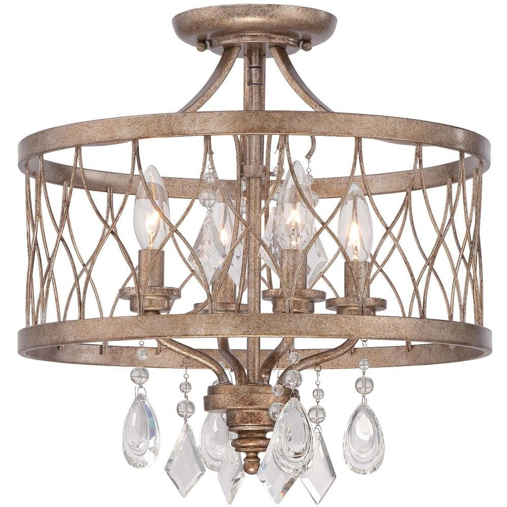 Minka Lavery 4403 581 4 Light 16 Wide Semi Flush Ceiling Fixture