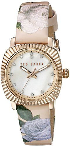 7a425f60a9a TE10024721 Ted Baker Womens Pink Floral Strap Mother Of Pearl Dial T...  https