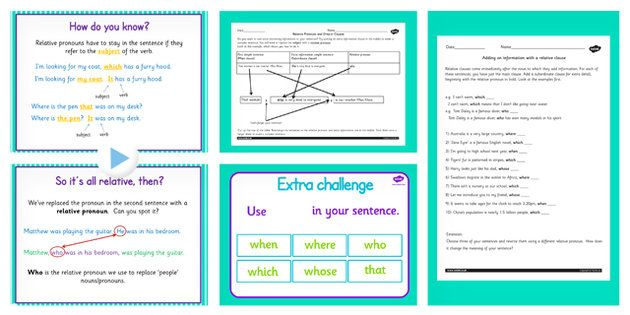 Use Relative Clauses Lesson Ideas And Resource Pack Uks2 Ks2
