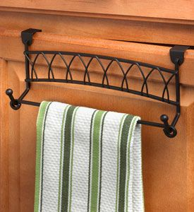 Use This Twist Over Cabinet Towel Bar To Increase Storage In Small Spaces.  This Towel Bar Fits Over Any Cabinet Or Drawer Up To One Inch Thick.