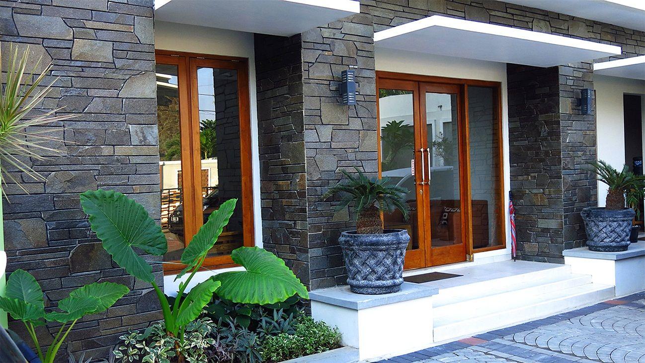 Model Teras Rumah Minimalis Batu Alam Untuk Rumah
