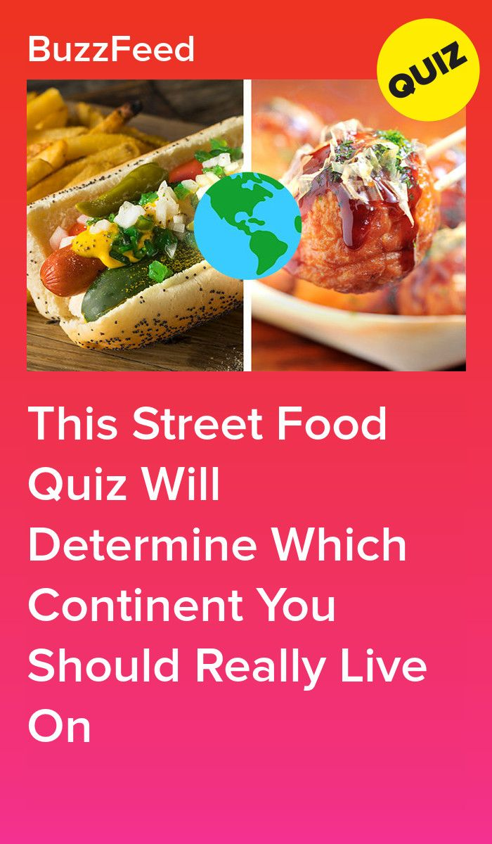 Eat A Bunch Of Street Food To Reveal Which Continent You Should Really Live On | Food. Food quiz. Street food